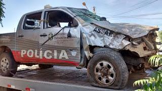 Acidente com uma Viatura da Polícia Militar de Campos Sales.