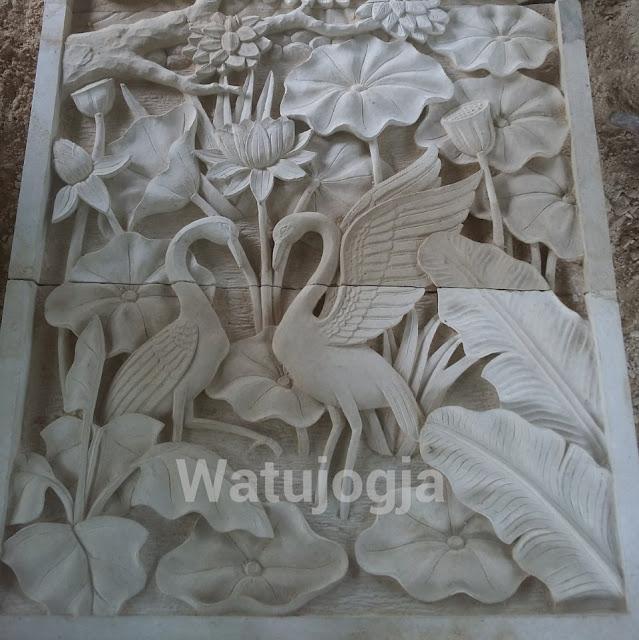Ukir batu alam relief batu alam