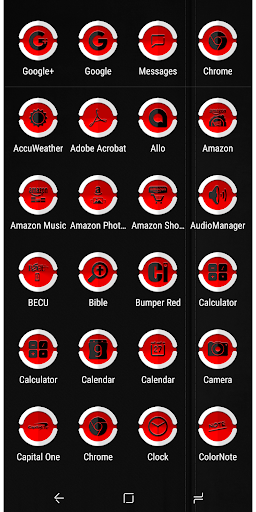 Screenshot for Bumper Red Icon Pack in United States Play Store