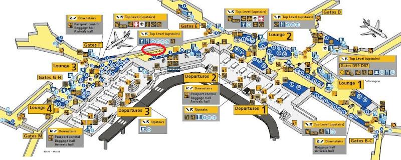 Amsterdam Schiphol Airport AMS Concourse D Map