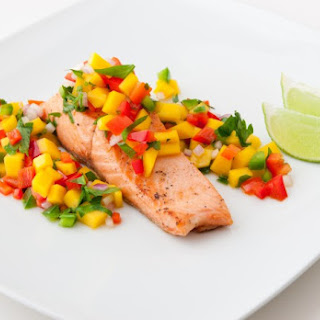 Salmon with Agave & Mango Salsa Recipe