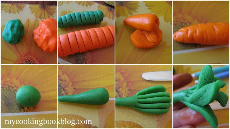 Как се правят моркови от бадемов марципан