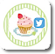 ケーキイラストのTwitterフォローボタン