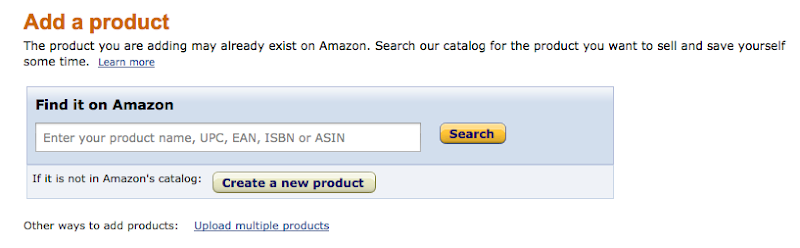 how to add a product on amazon seller central