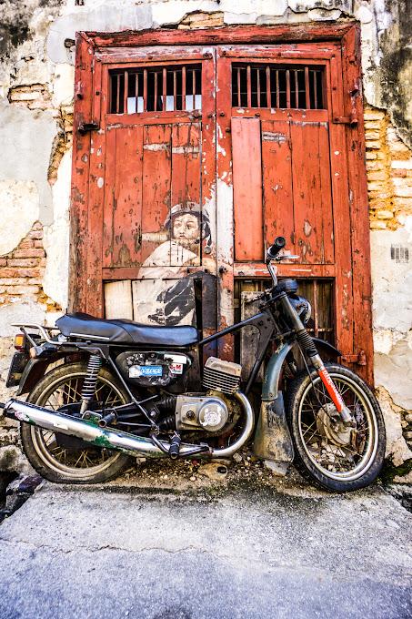 ペナン ジョージタウン ストリートアート Old Motorcycle2