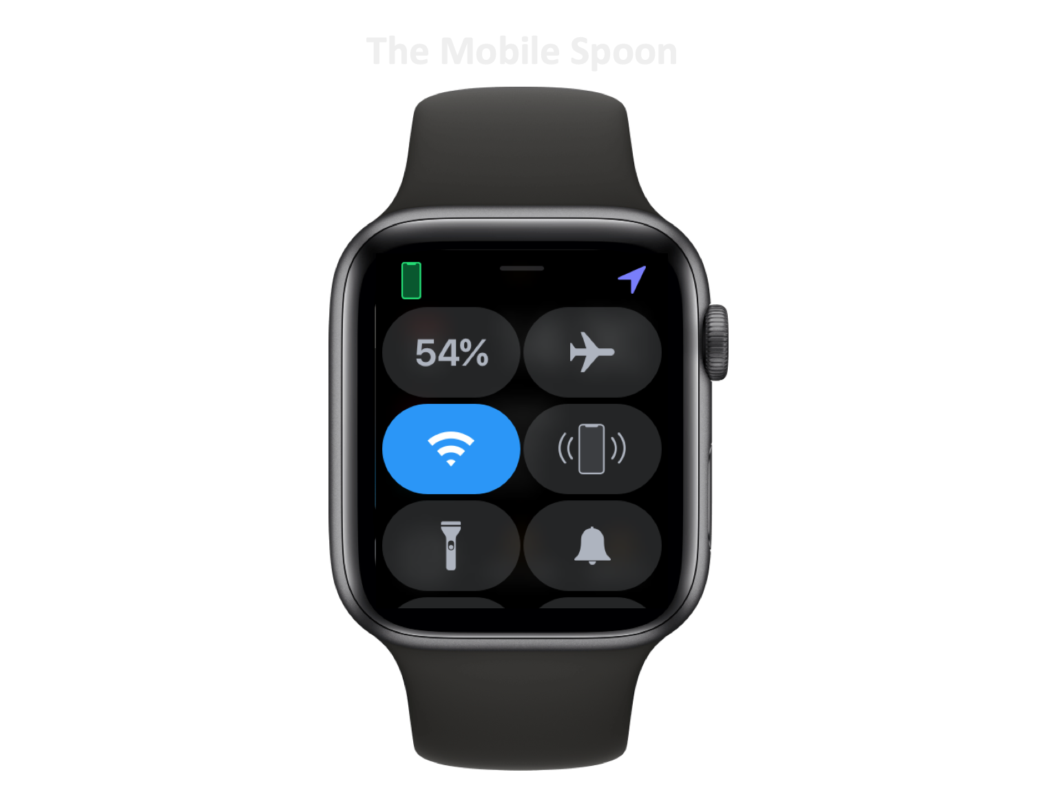 Apple Watch Control Center - current design