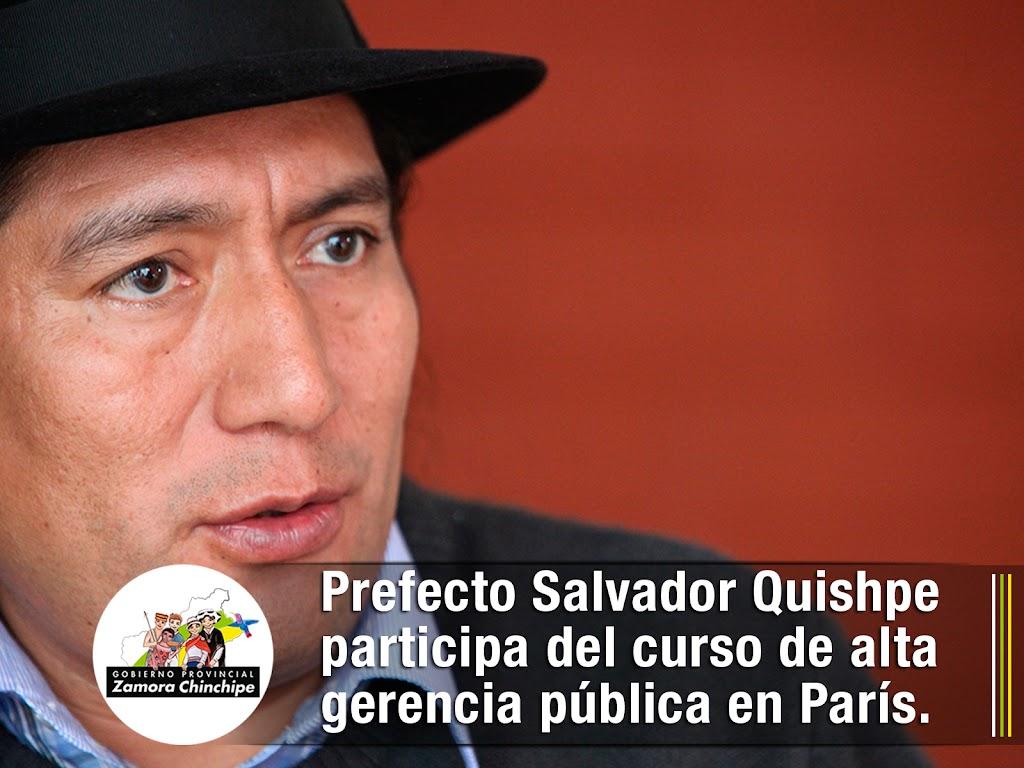 PREFECTO QUISHPE PARTICIPA DEL CURSO DE ALTA GERENCIA PÚBLICA EN PARÍS.
