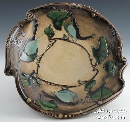 زخارف نباتية خزفيات رائعة للفنانة Carol Long