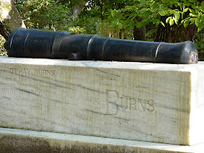 Photo: Otway Burns grave topped by his cannon - Old Burying Ground circa 1731 - Beaufort, NC Photo courtesy David Sobotta