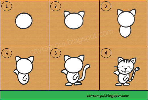Hướng dẫn vẽ con mèo