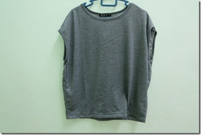 grey cropped top from Cotton On