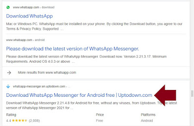 how to download WhatsApp from Google