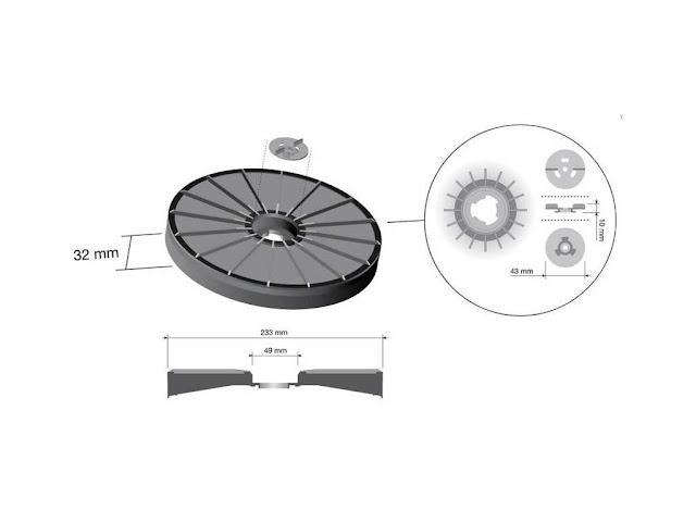 Filtro cappe Faber diametro 23,2 cm. C/disco a baionetta universale ...