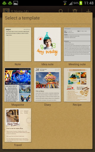 my samsung galaxy note journal sgnote ics updates s note