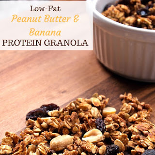 Peanut Butter Banana Protein Granola [low-fat & gluten-free].