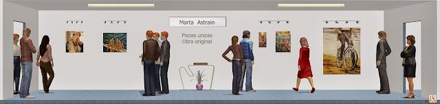 Sala de exposición virtual de pinturas de Marta Astrain