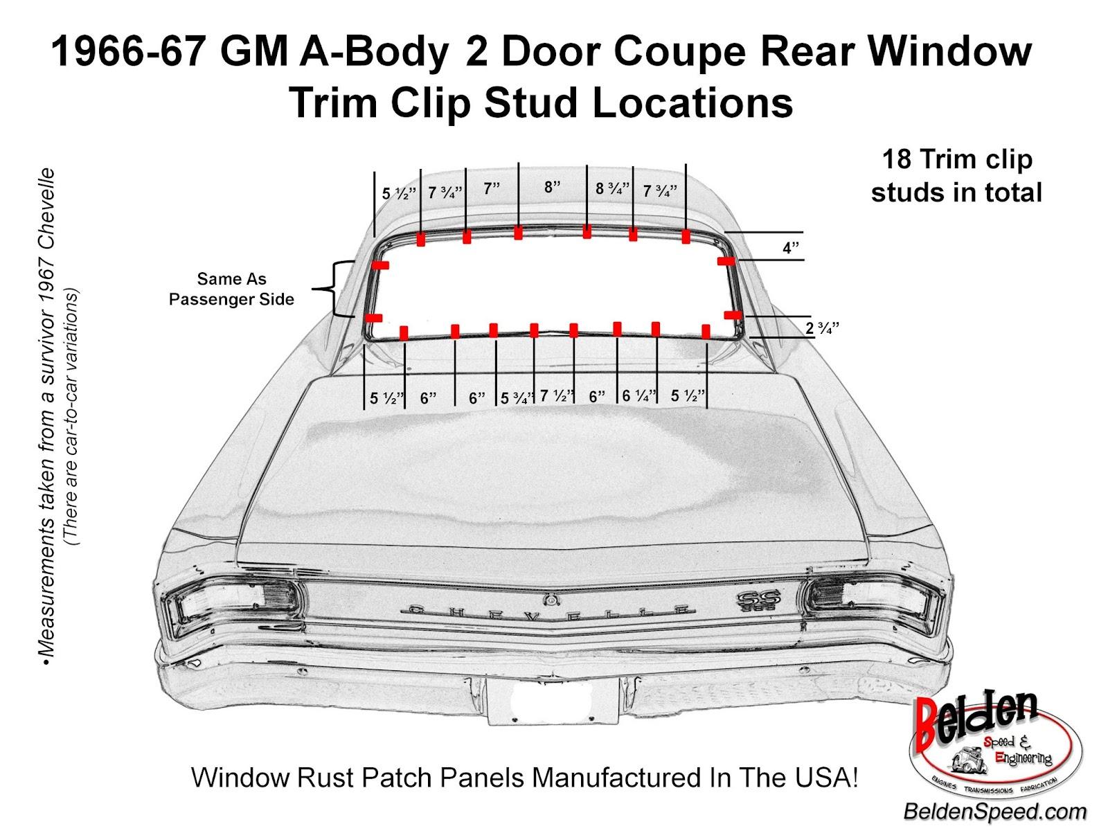 1967 Chevelle Diagram Ss Wiring 1966 Rear Window Trim Clip Stud Location Rh Beldenspeed Com Pdf Fuse Box