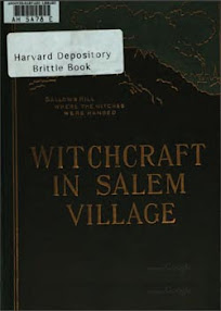 Cover of Winfield Nevins's Book Witchcraft in Salem Village in 1692 Together With a Review of The Opinions of Modern Writers