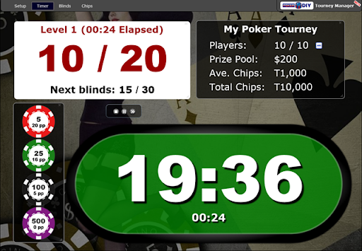 Poker timer ci slot