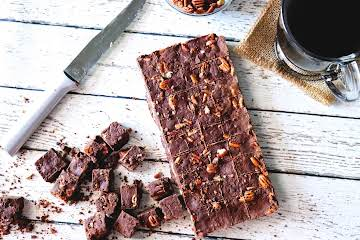 Chocolate Pecan Coffee Fudge