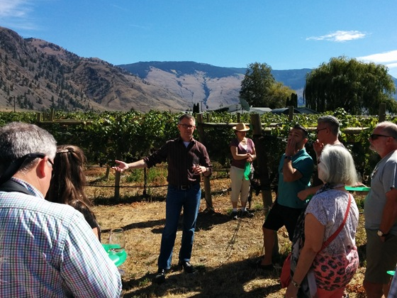 Clos du Soleil Winemaker Mike Clark provides a vineyard tour