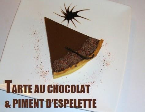 Tarte au chocolat et piment d'Espelette