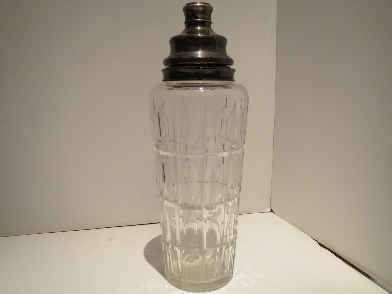 Vintage Hawkes Sterling and Glass Decanter