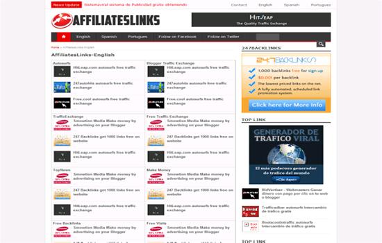 Affiliateslinks - Seo backlinks, Tráfego Viral grátis, Free Backlinks