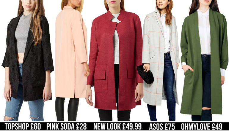 duster fashion high street winter coats
