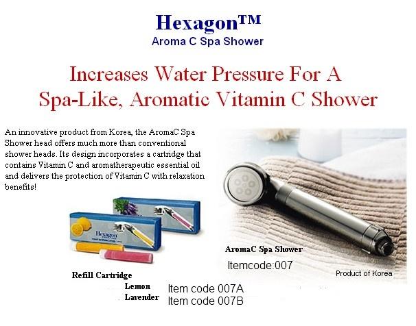 Better Way To Shop Hexagon Aroma C Spa Shower