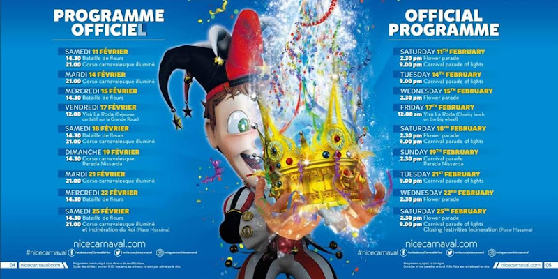 Carnaval de Nice programme 2017