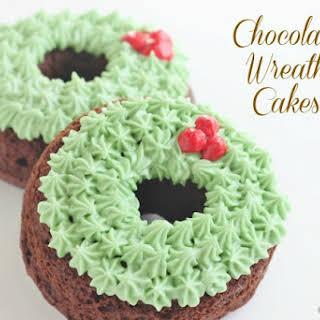 Chocolate Wreath Cakes.
