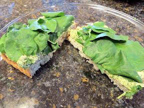 Watercress Cheese Sandwiches