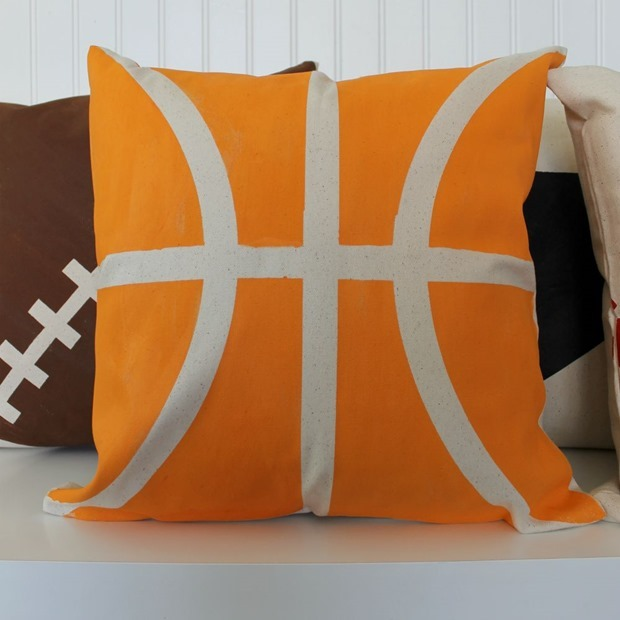 decoart basketball pillow