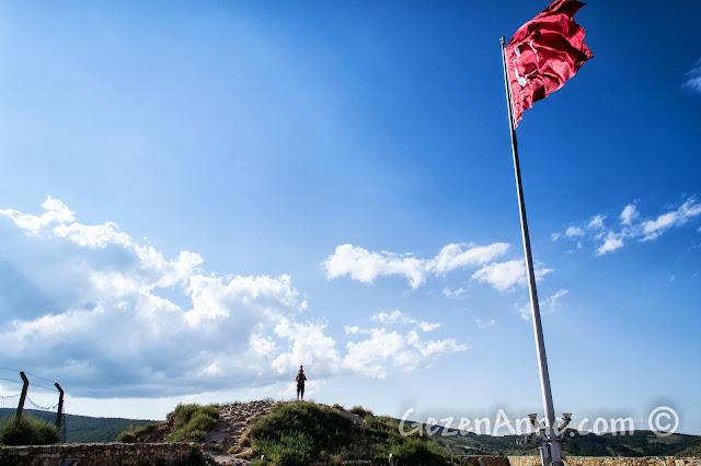 Kastamonu Kalesi'nin tepesindeki Türk Bayrağı