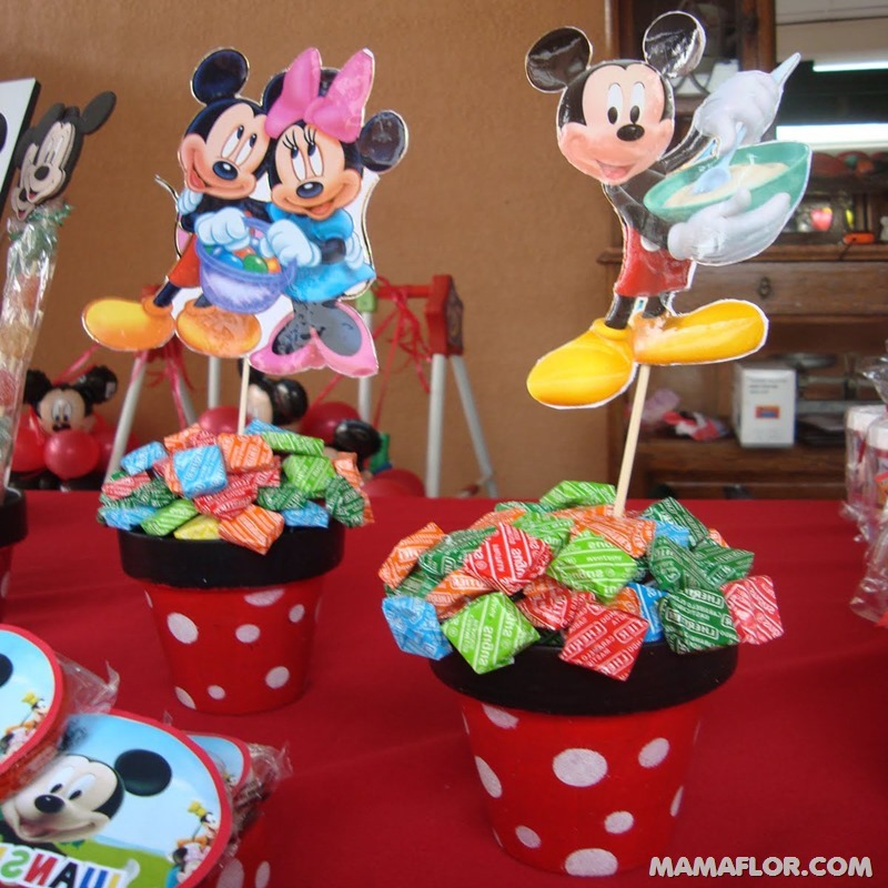 centro de mesa mickey y minnie mouse - 23