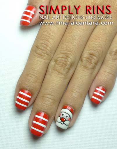 Santa Claus Nail Art Design