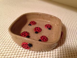 Lady Bug Soap Dish