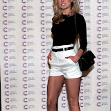 WWW.ENTSIMAGES.COM -  Kimberley Garner  arriving at a Fundraising event in aid of Cancer Research UK at The Roof Gardens Kensington High Street, London April 3rd 2013                                                    Photo Mobis Photos/OIC 0203 174 1069