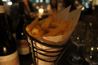 Photo: These wonderful truffle fries were paired with the Pinot Noir.  Wine with fries?  Yes, please!