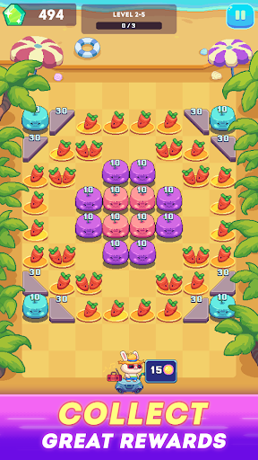 Rabbit Island - Brick Crusher Blast android2mod screenshots 1