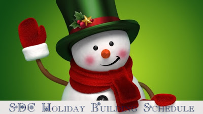 SDC Holiday Building Schedule