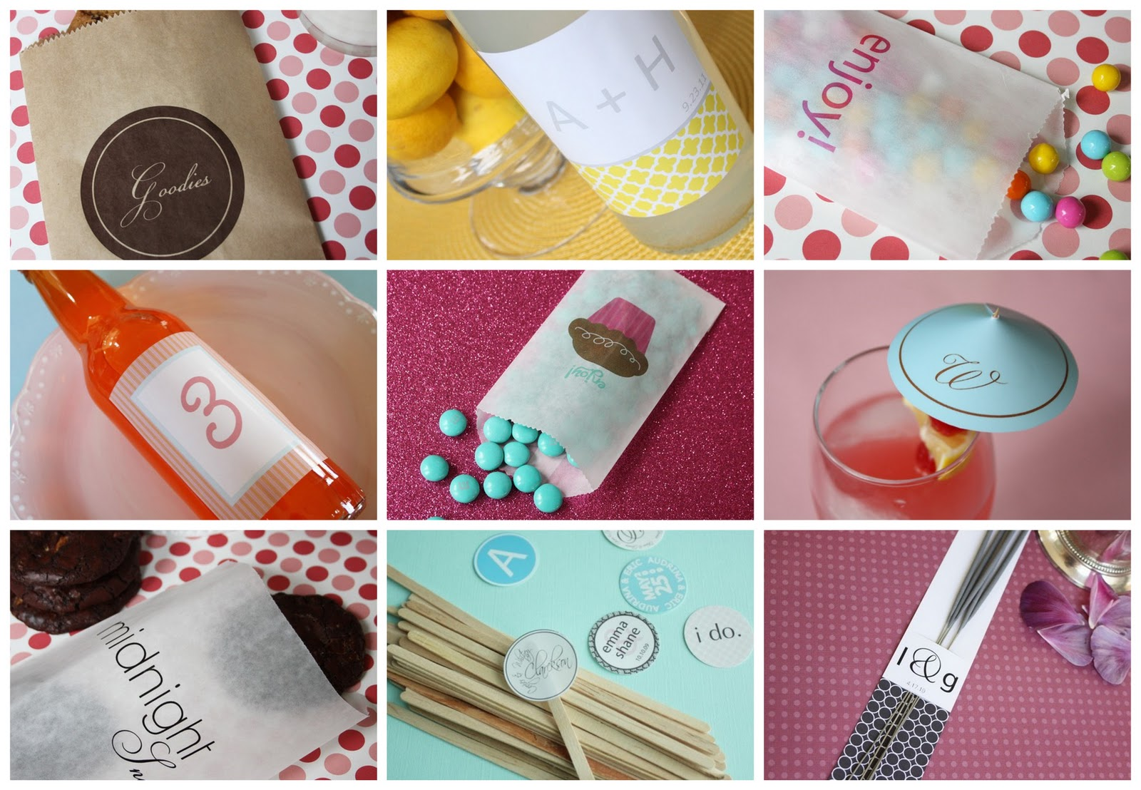 DIY Printable Wedding Favours & Stationery