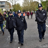 OIC - ENTSIMAGES.COM - Happy and Smiling policing at work at the  Virgin Money London Marathon on Blackheath in London, England. 24th April 2016 Photo Mobis Photos/OIC 0203 174 1069