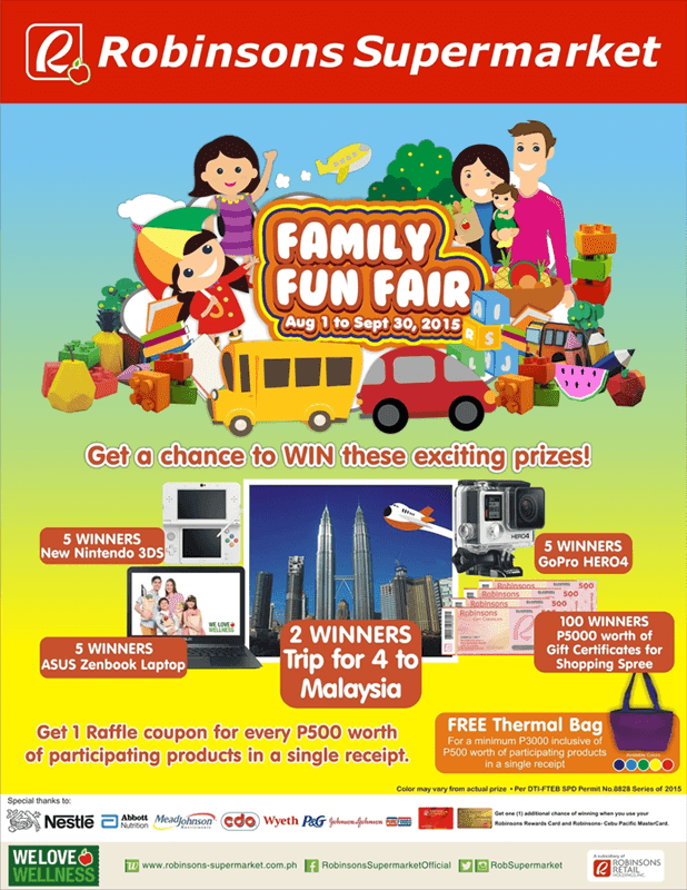 Robinsons Supermarket Family Fun Fair Promo
