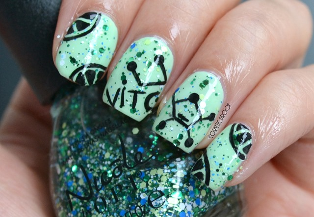 OPI Lime Nail Art Review Seriously Citrus and That's Hularious Swatch (2)