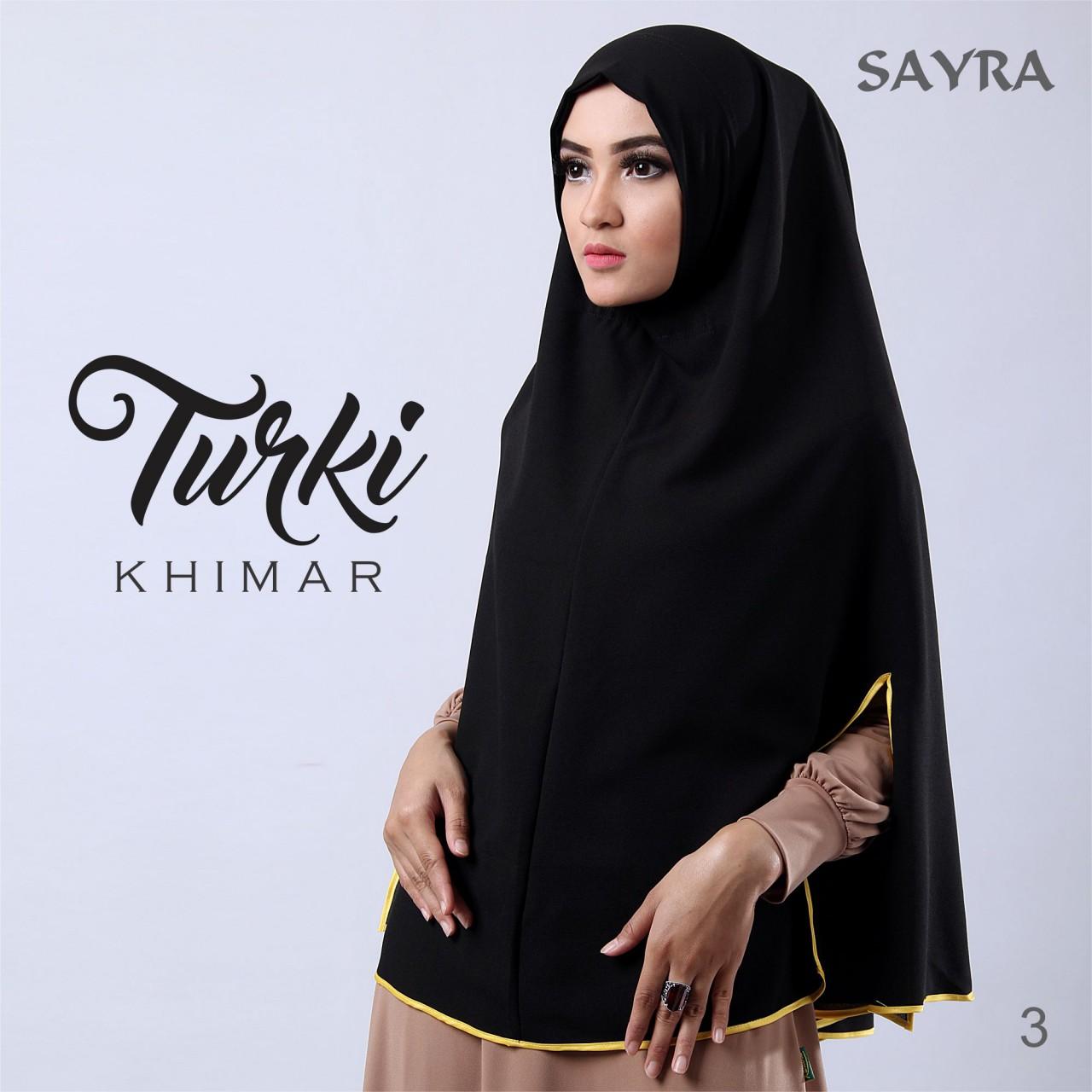 Khimar turki syari ori by sayra supplier jilbab branded Baju gamis almia terbaru
