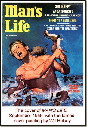 MEN'S LIFE, Sept 1956 - Wil Hulsey cover