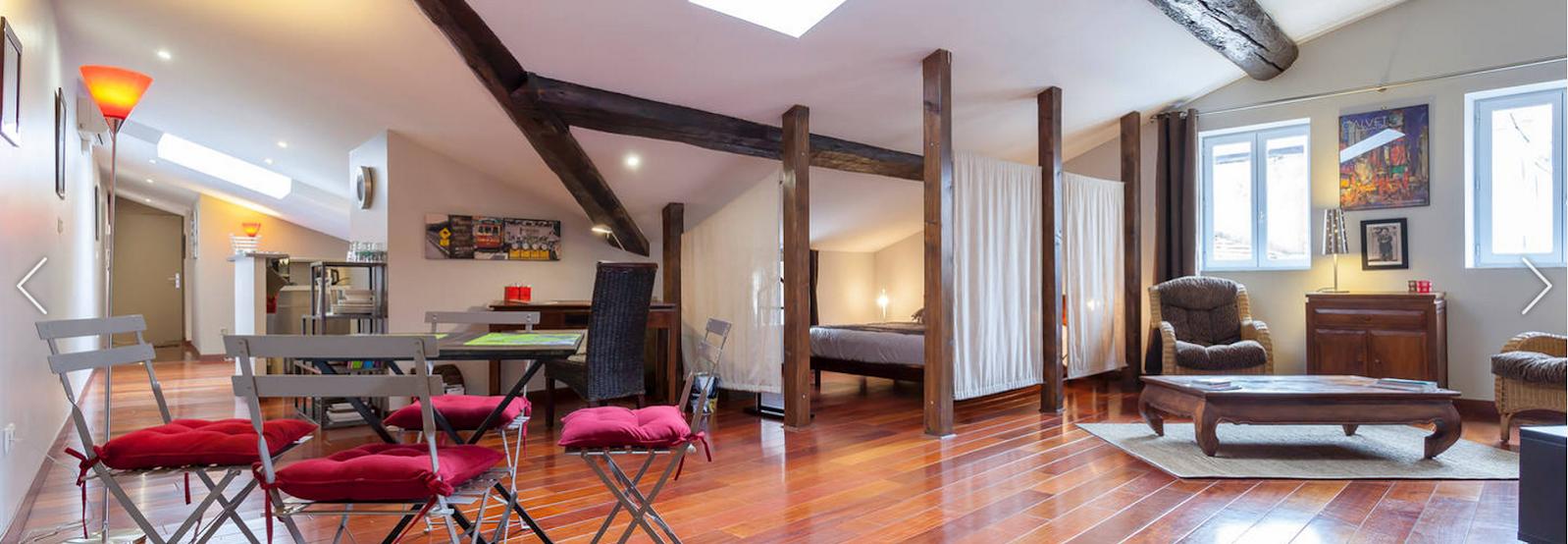 appartement loft meubl lyon. Black Bedroom Furniture Sets. Home Design Ideas