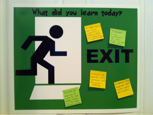 exit ticket clipart - photo #20